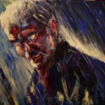 Zatoichi, obraz, Tomasz Boruch, akryl, portret, mężczyzna, modernart, rzeszów, rzeszow, podkarpackie